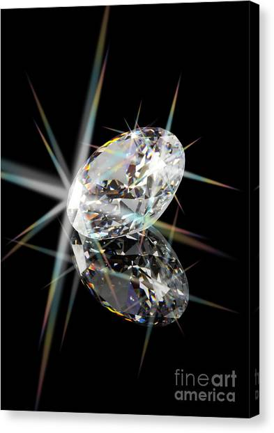Diamond Canvas Print