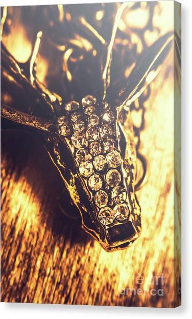 Diamond Canvas Print - Diamond Encrusted Wildlife Bracelet by Jorgo Photography - Wall Art Gallery
