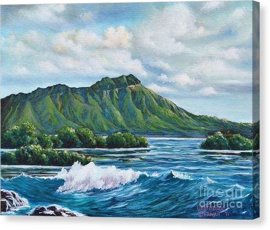 Diamond Head Canvas Print