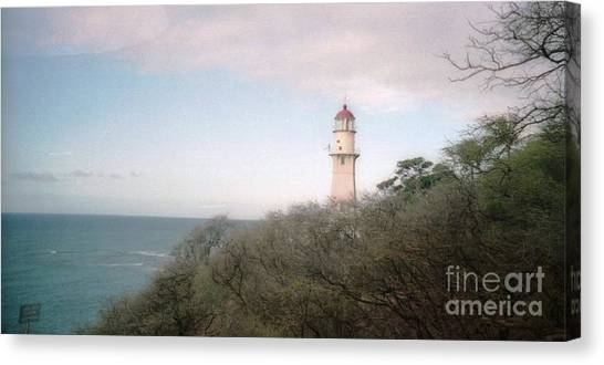 Diamond Head Light House Canvas Print