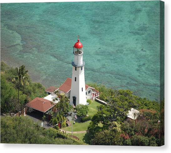 Diamond Head Lighthouse 2 Canvas Print