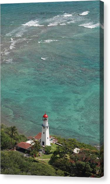 Diamond Head Lighthouse 3 Canvas Print