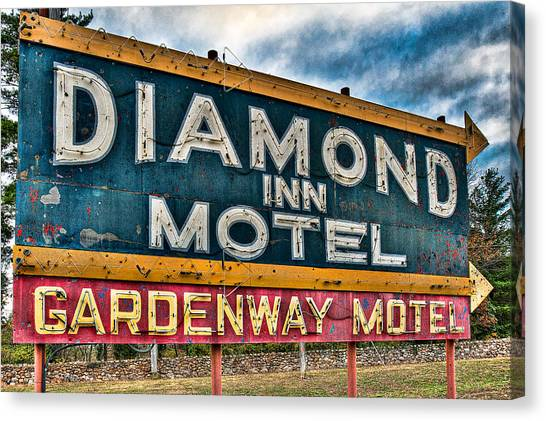 Diamond Inn Motel Sign Canvas Print