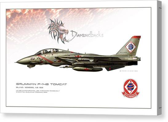 Iraq Canvas Print - Diamondbacks Profile by Peter Van Stigt