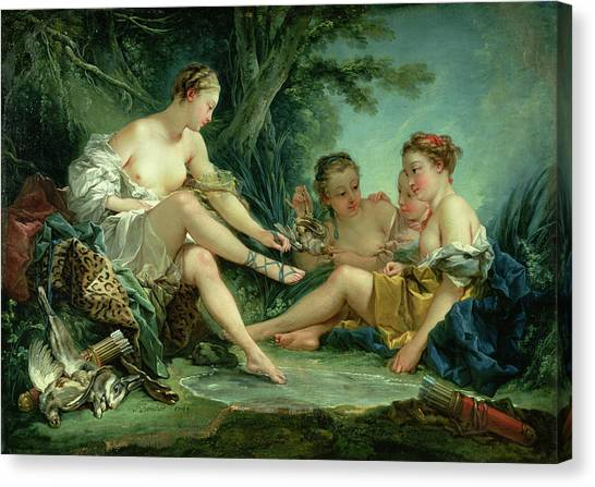 Boucher Canvas Print - Diana After The Hunt by Francois Boucher