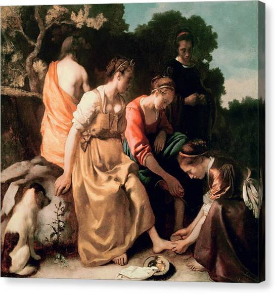 Attendant Canvas Print - Diana And Her Companions by Jan Vermeer