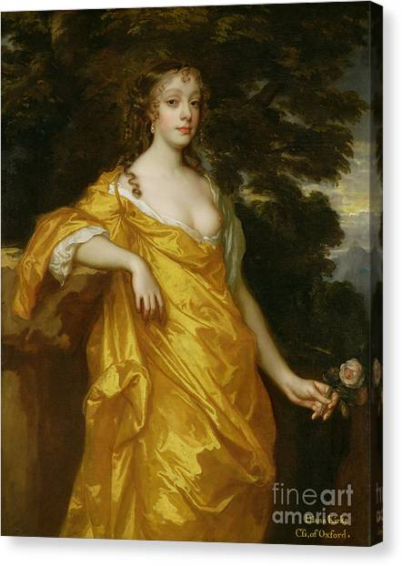 Nipples Canvas Print - Diana Kirke-later Countess Of Oxford by Sir Peter Lely