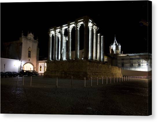 Diana Temple Canvas Print by Andre Goncalves