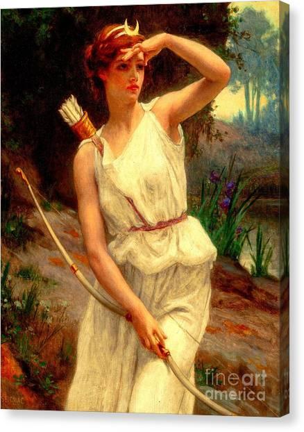 Diana The Huntress Guillaume Seignac  Canvas Print