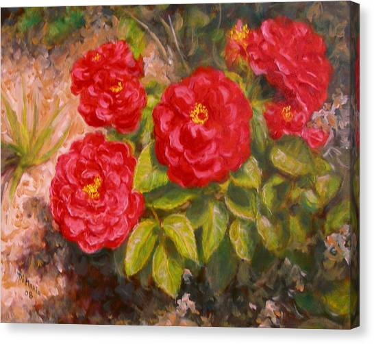 Diane's Roses Canvas Print by Donelli  DiMaria