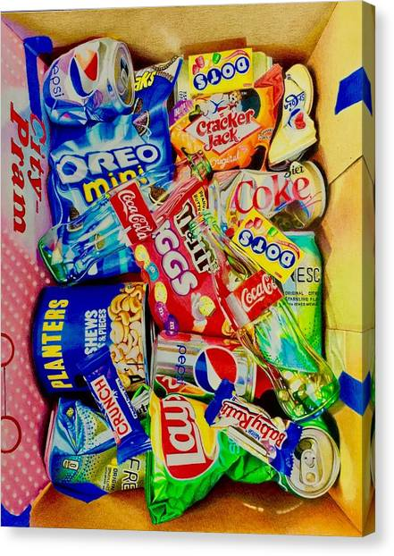 David Hoque Canvas Print - Dibs On The Baby Ruth by David Hoque