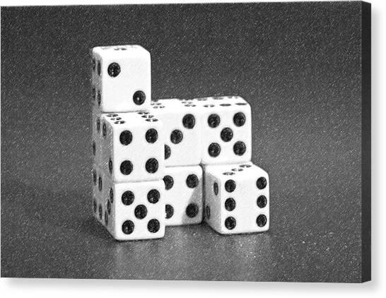 Ivory Canvas Print - Dice Cubes I by Tom Mc Nemar