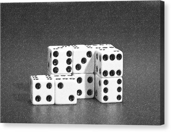 Ivory Canvas Print - Dice Cubes II by Tom Mc Nemar
