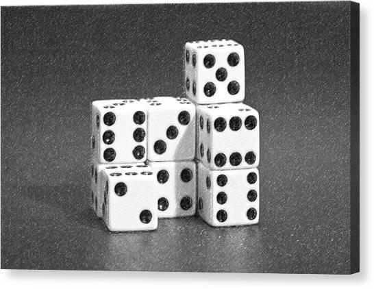 Ivory Canvas Print - Dice Cubes IIi by Tom Mc Nemar