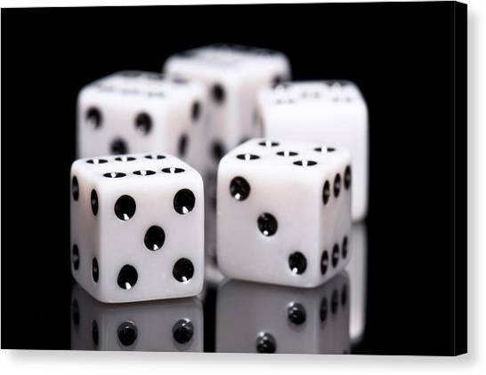 Ivory Canvas Print - Dice I by Tom Mc Nemar