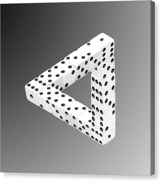 Dice Illusion Canvas Print