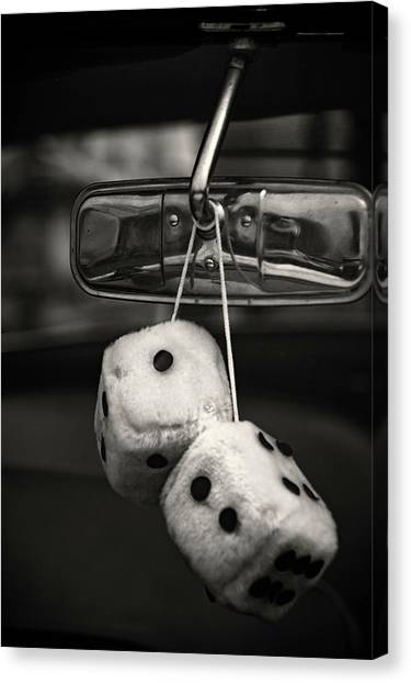 Dice In The Window Canvas Print