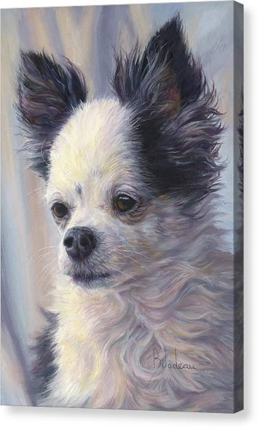 Chihuahua Canvas Print - Dice by Lucie Bilodeau