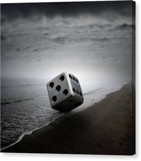 Metal Canvas Print - Dice by Zoltan Toth