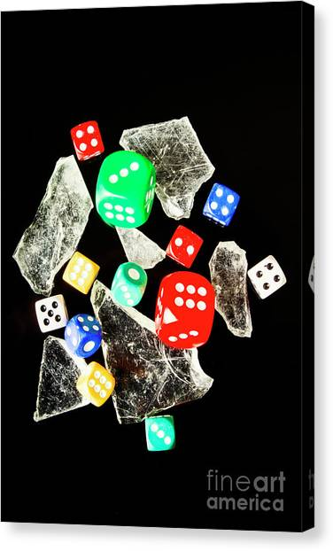 Wager Canvas Print - Dicing With Chance by Jorgo Photography - Wall Art Gallery