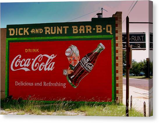 Dick And Runt Bbq Canvas Print
