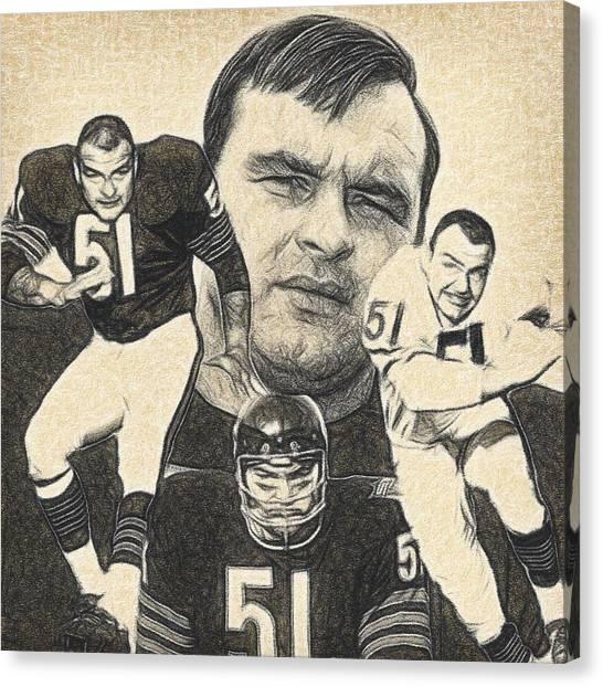 Dick Butkus Canvas Print - Dick Butkus by Bob Smerecki