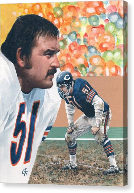 Dick Butkus Canvas Print - Dick Butkus by Gary Thomas