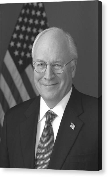 Republican Politicians Canvas Print - Dick Cheney by War Is Hell Store