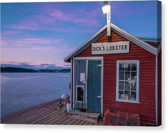 Dicks Lobsters - Crabs Shack In Maine Canvas Print