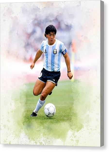 Diego Maradona Canvas Print - Diego Maradona by Karl Knox Images