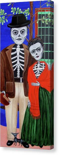 Diego Y Frida Canvas Print by Evangelina Portillo