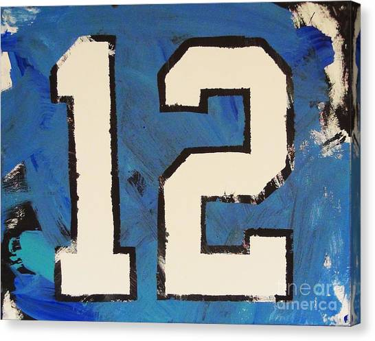Diehard 12th Man Canvas Print