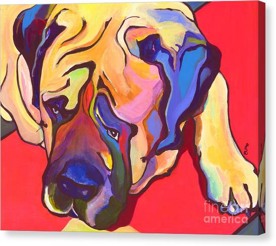 Mastiffs Canvas Print - Diesel   by Pat Saunders-White