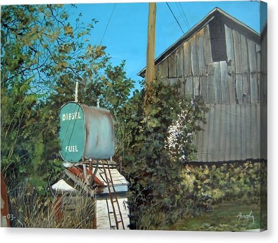 Diesel Fuel Canvas Print by William  Brody