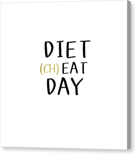 Gym Canvas Print - Diet Cheat Day- Art By Linda Woods by Linda Woods