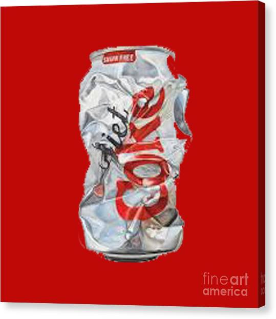 Diet Coke T-shirt Canvas Print
