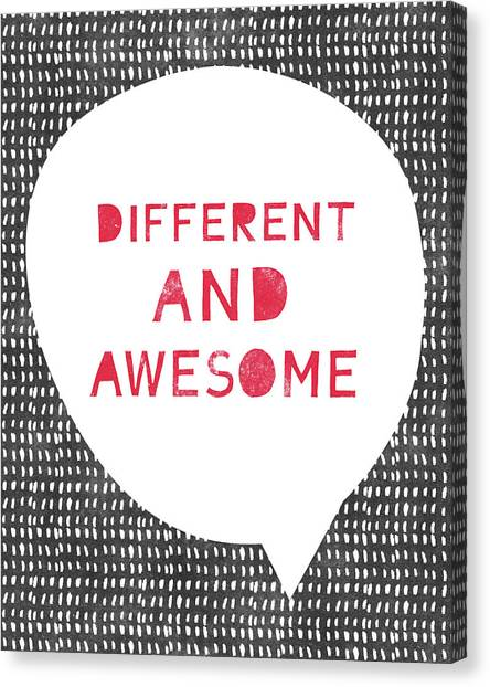 Inspiration Canvas Print - Different And Awesome Red- Art By Linda Woods by Linda Woods