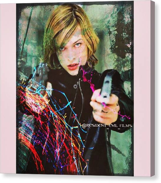 Canvas Print - Different Kind Of Edit Today: An Art by Resident Evil