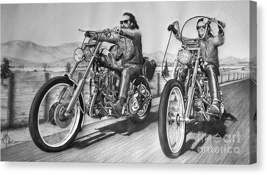 Dennis Hopper Canvas Print - Easy Riders by Murphy Elliott