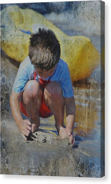 Digging To China 2 Canvas Print