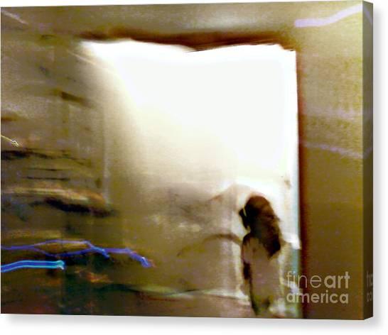 Digital Doorway Canvas Print by Balanced Art
