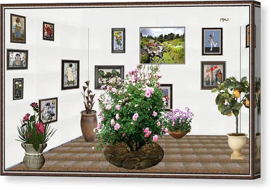 Digital Exhibition _ Roses Blossom 22 Canvas Print