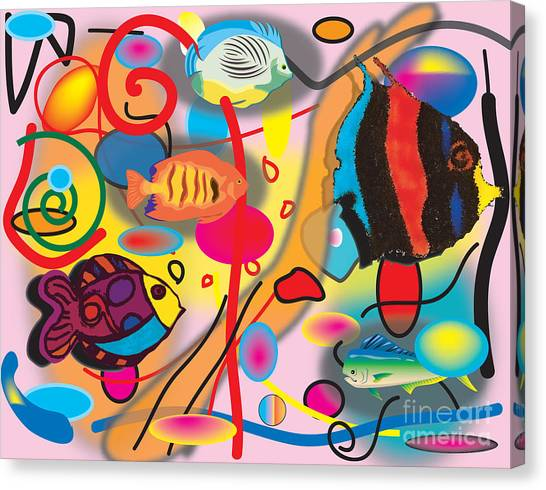 Digital Fish Canvas Print