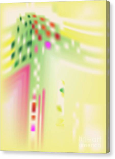 Canvas Print featuring the digital art Digital Mind - Abstract Art Print On Canvas - Digital Art - Fine Art Print  by Ron Labryzz