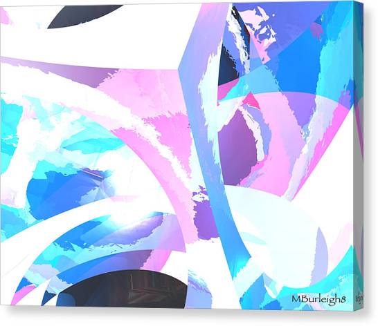 Digital Paint Canvas Print by Michael Burleigh