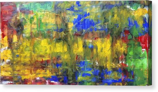 Gerhard Richter Canvas Print - Digital Painting Abstract #2  by Rich Franco