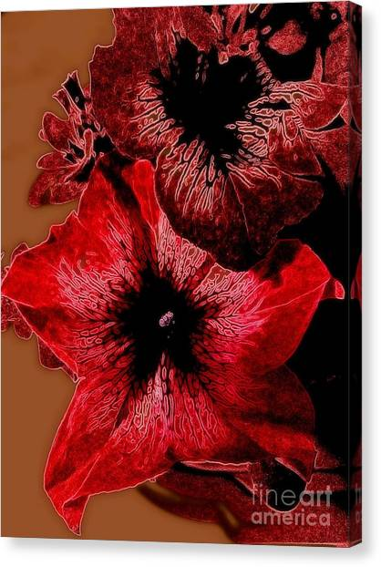Digital Petunia Canvas Print