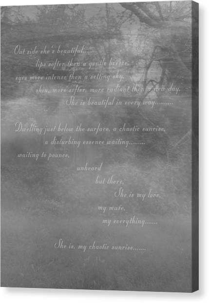 Digital Poem Canvas Print