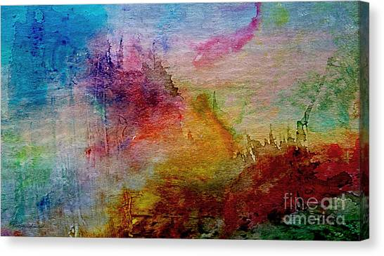 1a Abstract Expressionism Digital Painting Canvas Print