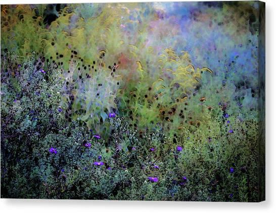 Digital Watercolor Field Of Wildflowers 4064 W_2 Canvas Print